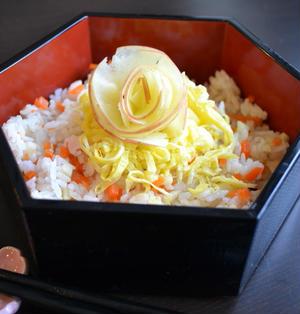 りんごのちらし寿司 簡単でびっくりするおいしさ!(印刷用)