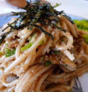 栄養いっぱい♪アマランサスの和風スパゲティ