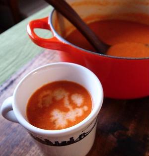 なんちゃって「Soup Stock Tokyo」な、「エビのトマトクリームスープ」