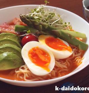 野菜の旨みを楽しむガスパチョ風冷やし中華 | アレンジ冷し中華を楽しもう!