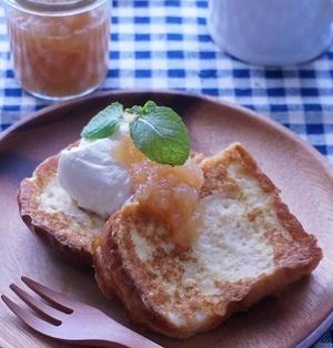 塩麹フレンチトースト♪ドリップヨーグルトを添えて