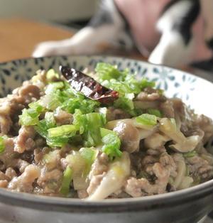 簡単!ひき肉とキノコの中華風あんかけ丼