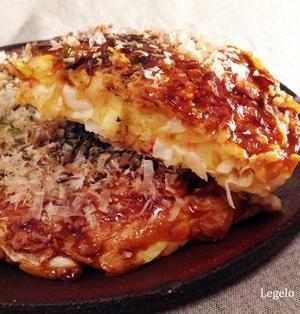 お豆腐で♪関西風お好み焼き