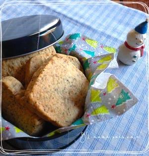 紅茶のアイスボックスクッキー♪片栗粉でサクサク!