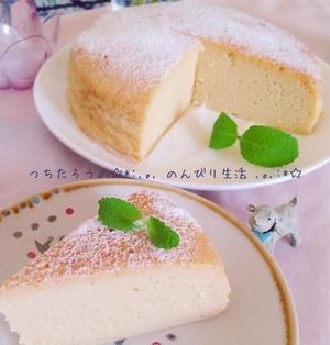 クリチ不要♪お豆腐でスフレチーズケーキ
