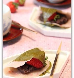 苺のさくら餅♪
