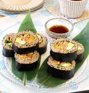 豚キムチそば寿司☆